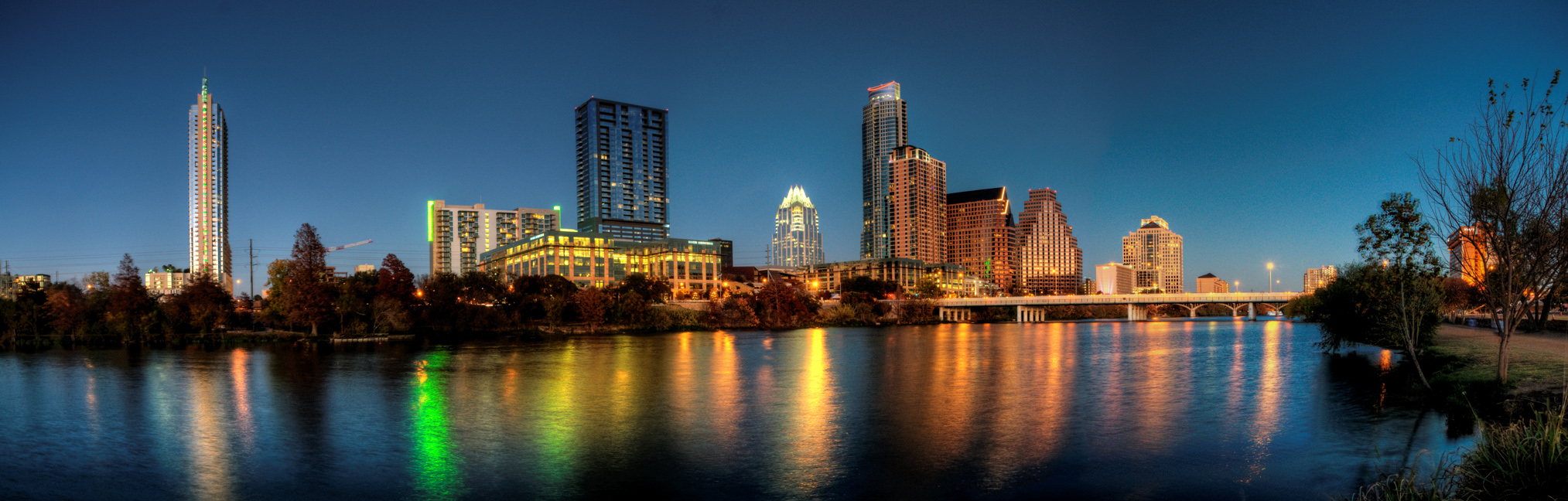 Austin Skyline at Dusk by George Miquilena
